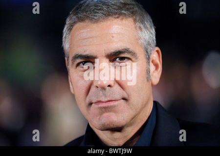 George Clooney attends the premiere of 'The Men Who Stare at Goats,' of which he stars, on Thursday night, October - Stock Photo