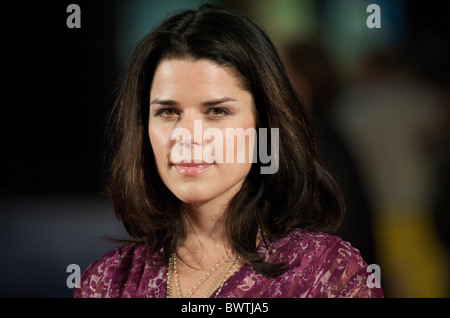 Actress Neve Campbell arrives at the premiere of 'The Men Who Stare at Goats' on Thursday night, October 15, 2009, - Stock Photo