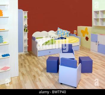 Modern small Kid nursery room - Stock Photo