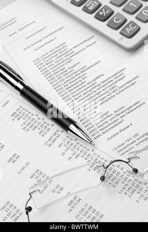Buchhaltung, Accounting - Stock Photo