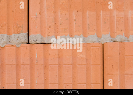 Hollow brick masonry - Stock Photo