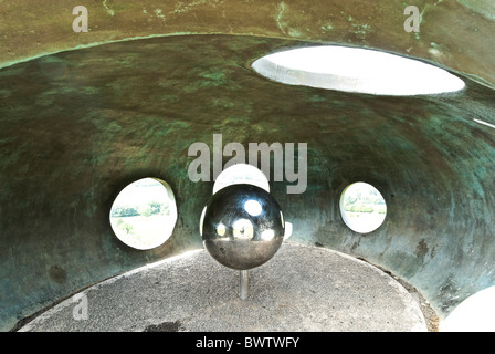 The Atom panopticon situated in Wycoller, Lancashire designed by Peter Meacock with Katarina Novomestska - Stock Photo
