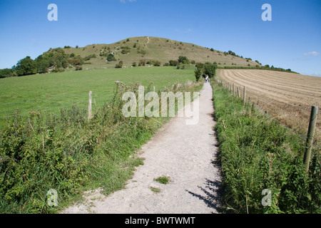 Footpath to Cley Hill, Wiltshire, Somerset, England, UK - Stock Photo