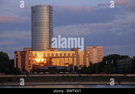 Germany Europe Cologne city LVR building high-rise building Hyatt-Hotel Cologne-Deutz North Rhine-Westphalia E - Stock Photo