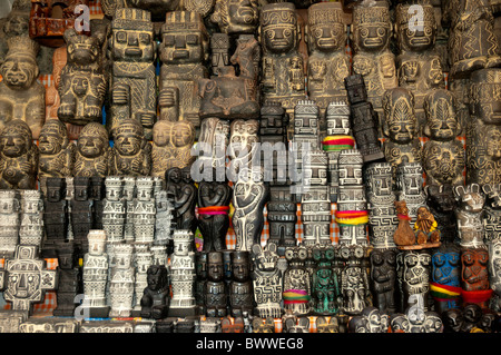 All sorts of items for sale as talisman, amulets, magic, ritual and traditional medicine in the Witches Market, - Stock Photo