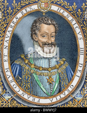 Henry IV of France 'The Great' (1553-1610). King of Navarre in 1562 (Henry III), king of France in 1589-1610. - Stock Photo