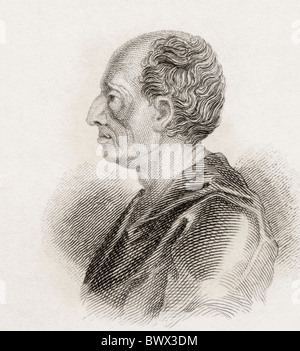 Bernard le Bovier de Fontenelle, 1657 to 1757. French author. - Stock Photo
