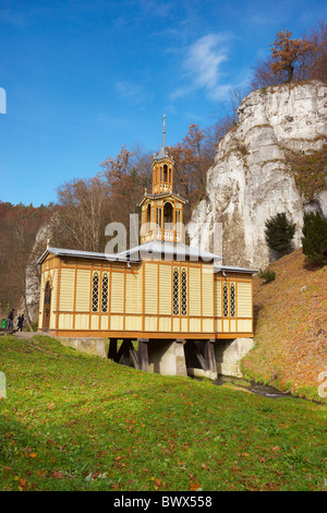 Ojcowski National Park - Picturesque old wooden church in Ojcow, Poland - Stock Photo