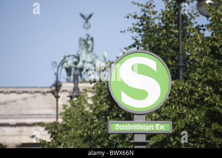 Berlin Brandenburger Tor Brandenburg Gate - Stock Photo