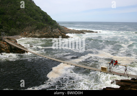 Suspension Bridge at Storms River Mouth, Tsitsikamma Nature Reserve, South Africa.