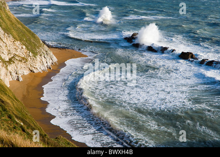 Man o' War Cove (St Oswald's Bay), Dorset, UK - Stock Photo