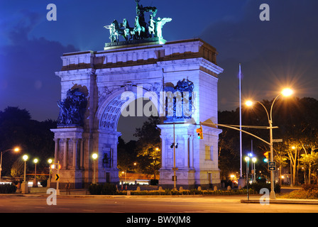 Soldiers' and Sailors' Arch in Prospect Park, Brooklyn, New York, USA. - Stock Photo