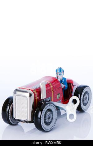 Tin Clockwork Car - Stock Photo