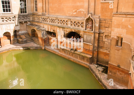 Kings Bath, Roman Baths, BATH, England UK - Stock Photo
