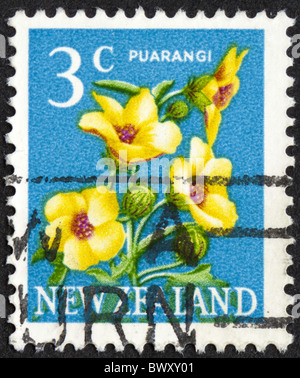 Vintage postage stamp from New Zealand - Stock Photo