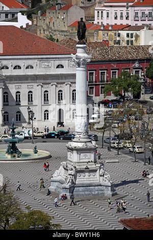 Portugal Lissabon Lisbon Lisboa Rossio - Stock Photo