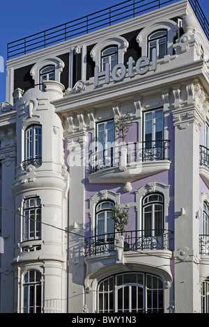 Portugal Lissabon Lisbon Lisboa Rossio - Stock Photo