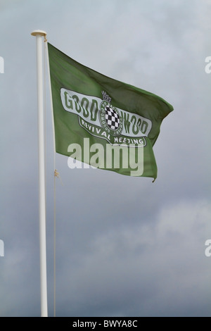 The Goodwood Revival meeting flag flying at the 2010 event, Sussex, England, UK. - Stock Photo