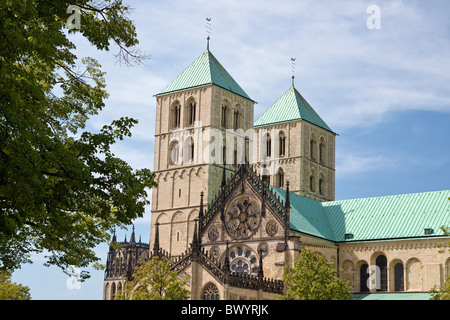 the famous cathedral st. paulus in Münster, Germany. - Stock Photo