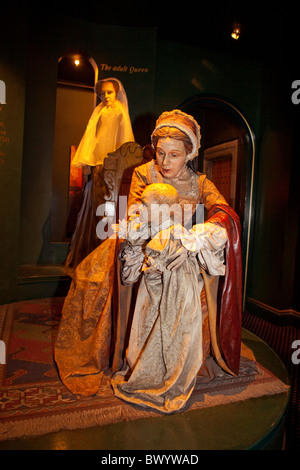 Inside Edinburgh Castle- The story  /exhibition of the Scottish crown jewels. - Stock Photo