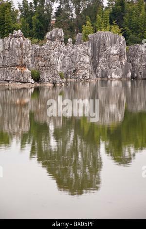 Shilin, Stone Forest, Shilin Yi, near Lunan and Kunming, Yunnan Province, China - Stock Photo