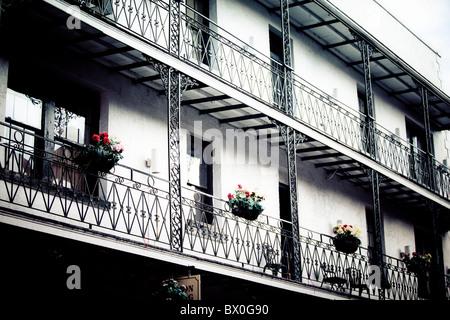 New Orleans Louisiana French Quarter National Historic Landmark Stock Photo