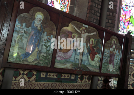 one of (17) images in this set related to St Mary the Virgin Church in Jackfield, Shropshire, England. Crucifixion - Stock Photo