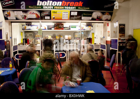 Boltonbreak Refreshment Bar and Cafe at the Bolton Wanderers Football Club - Reebok Stadium_ Lancs UK - Stock Photo