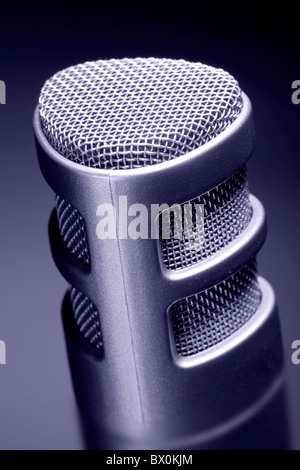 close up of a recording microphone - Stock Photo