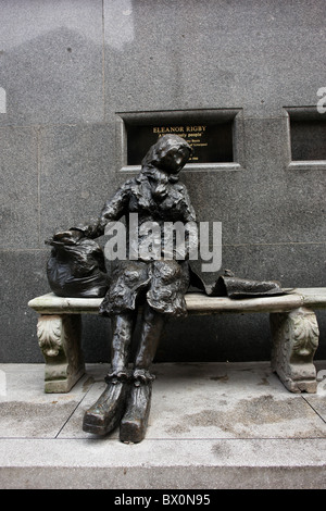 Statue of 'Eleanor Rigby' sculptured by Tommy Steele and situated in Stanley St, Liverpool, Merseyside, England, - Stock Photo