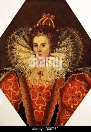Portrait of Queen Elizabeth I - Stock Photo