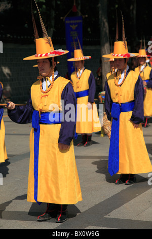 Changing of the Guards, Deoksugung Palace, Palace of Virtuous Longevity, Seoul, South Korea, Asia  - Stock Photo