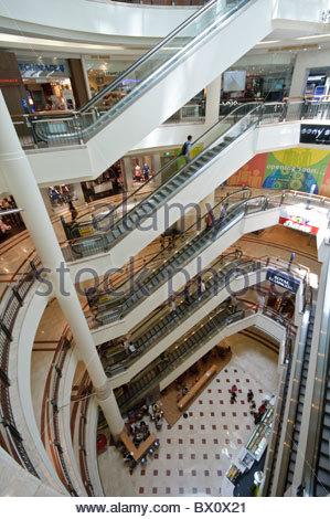 Suria KLCC shopping centre in Petronas Twin Towers, Kuala Lumpur, Malaysia, Southeast Asia, Asia - Stock Photo