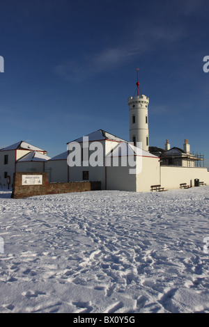 exterior of Signal Tower museum Arbroath Angus Scotland in winter  December 2010 - Stock Photo