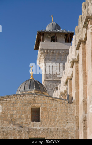 The Ibrahim Mosque, Cave of Machpela in Hebron, Palestine - Stock Photo