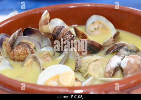 Clam's in a sauce in Ibiza - Stock Photo