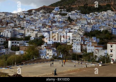 Chefchaouen hillside village,Morocco - Stock Photo