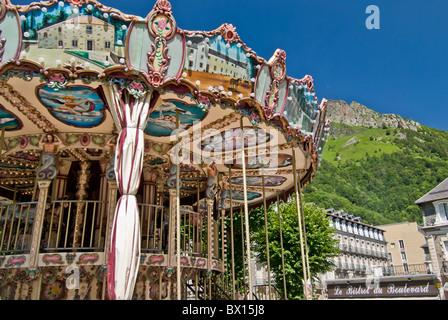 Merry-go-Round fair ride - Stock Photo