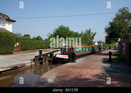 Grindley Brook Locks - Stock Photo