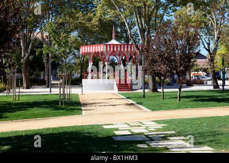 Bandstand in Republica Garden in the city of Santarém, Portugal. - Stock Photo