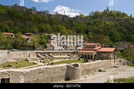 Veliko Tarnovo, historic town, former bulgarian capital, well-known with its traditional architecture, Bulgaria, - Stock Photo