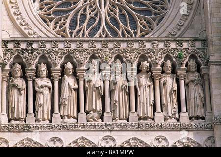 Amiens Amiens Cathedral Built 1220 Cathedral Cathedrale Notre Dame Christianity Church France Europe Gothic Stock Photo