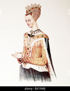 Margaret Queen of Scots, wife of King James IV of Scotland, - Stock Photo