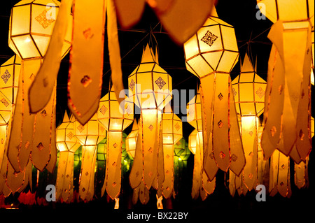 Thailand - Yee Yi Peng Lantern Festival in Chiang Mai in Thailand South East Asia. - Stock Photo