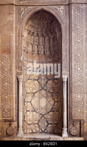 detail of niche in Sultan Hasan complex, entrance portal, Cairo, Egypt