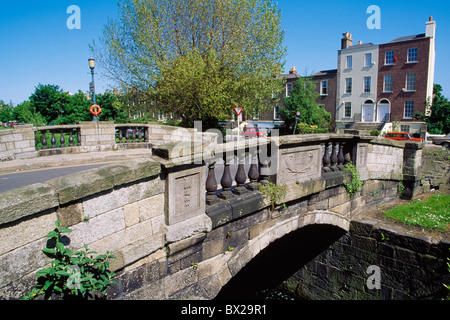 Dublin,Co Dublin,Ireland;View Of Hubbard Bridge - Stock Photo
