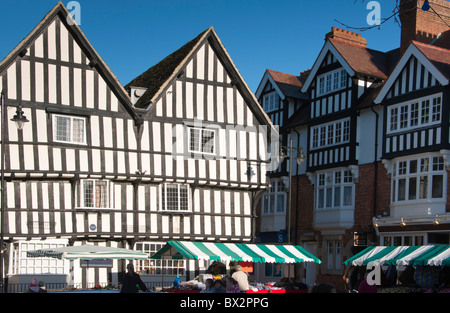 Evesham market square, Worcestershire, England, Europe - Stock Photo