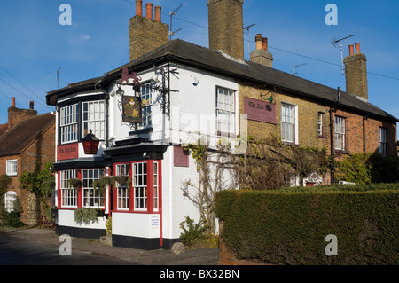 Red Lion public house, a rural village local roadside pub in Chenies village Buckinghamshire UK - Stock Photo