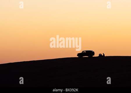 Sunset in Dubai, United Arab Emirates. On the Big Red - Stock Photo