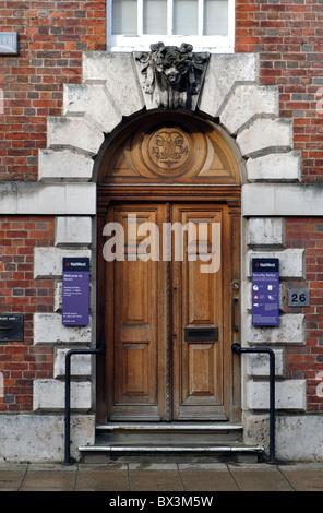 NatWest Bank door, High Street, Warwick, UK - Stock Photo